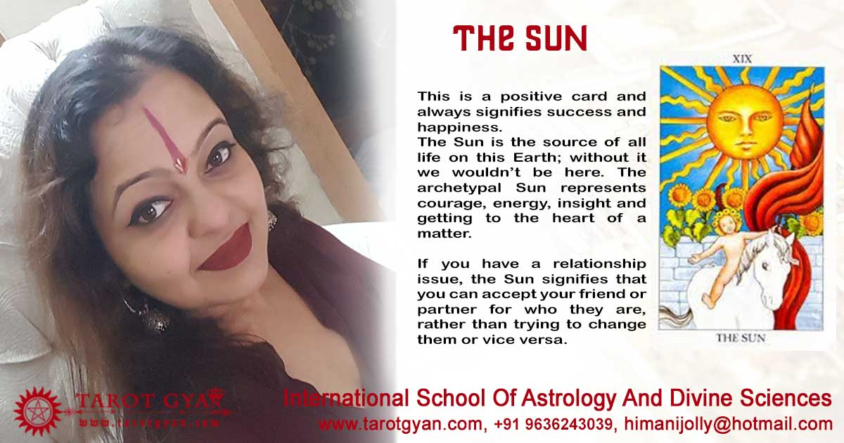 The Sun Card of Tarot Deck