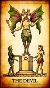 The Devil Card of Tarot Deck