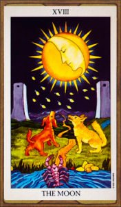 The Moon Card of Tarot Deck