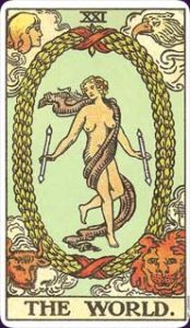 The World Card of Tarot Deck